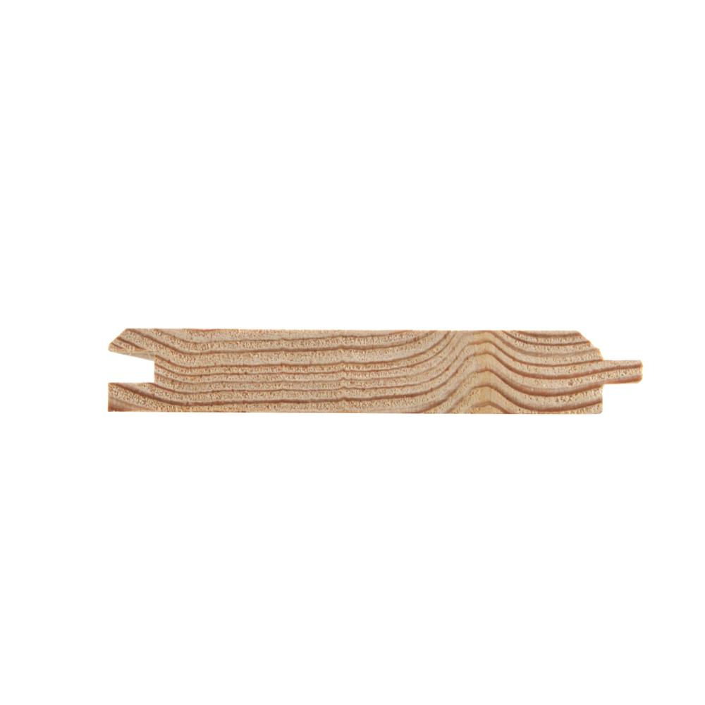Przekrój deski tarasowej profil pióro-wpust modrzewiowa