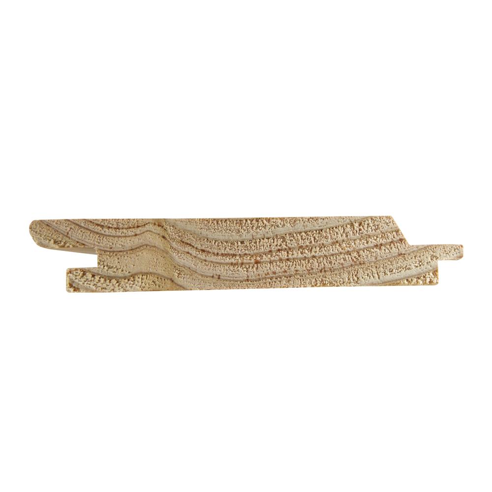 Przekrój deski tarasowej profil budmax modrzewiowa